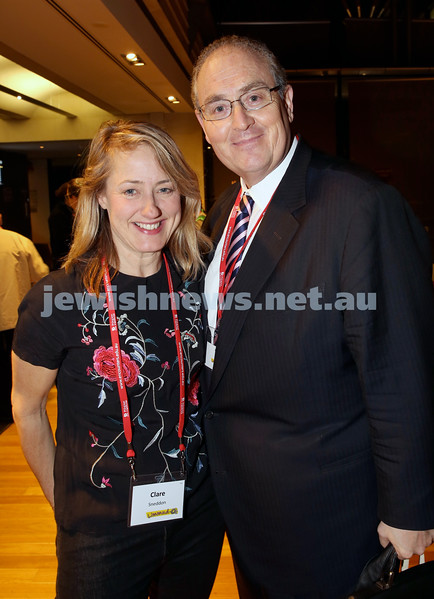 Limmud Oz. Clare Sneddon & Walt Secord MP.