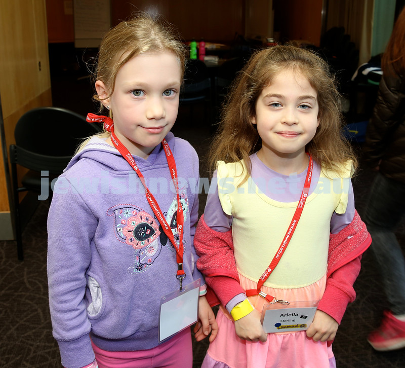 Limmud Oz. Children session. Kira Levin-Kahn & Ariella Sterling.