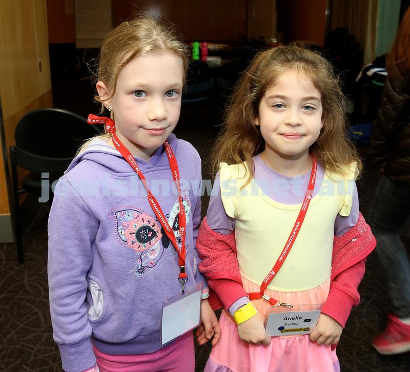Limmud Oz. Children session. Kira Levin-Kahn & Ariella Sterling.