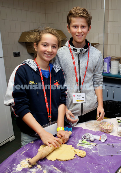 Limmud Oz. Children session..Baking biscuits. Lily & Ariel Berger.