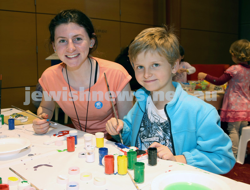 Limmud Oz. Children's arts and crafts. Tanna & Shannon Klevansky.