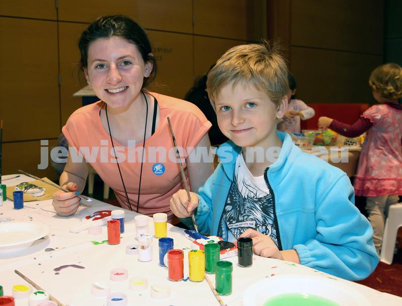 Limmud Oz. Children's arts and crafts. Tanna & Shannon Klevansky.