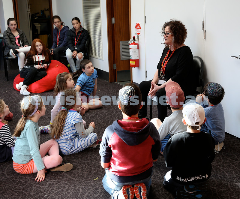 Limmud Oz. Children session. Donna Jacobs Sife telling stories.