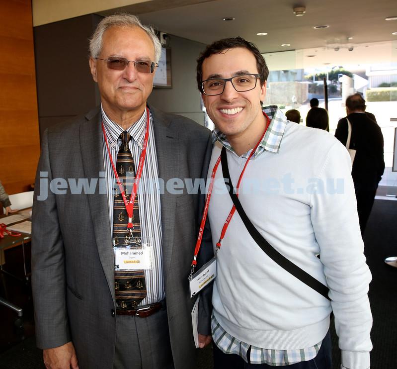 Limmud Oz. Mohammed Dajani & Michael Misrachi.