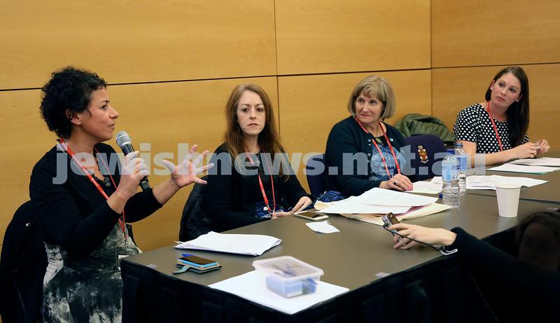 Limmud Oz. Panel Discussion. Avril Alba, Jacqueline Ninio, Caroline Haski,Rachel Flitman.