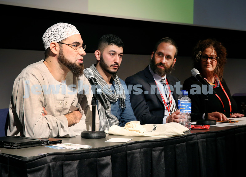 "Limmud Oz. Panel Discussion ""Killing Infidels ? Attitude to Goyim? Damnation."" Sheikh Ahmed Abdo, Taha Allam, Rabbi Zalman Kastel, Donna Jacob Sife."
