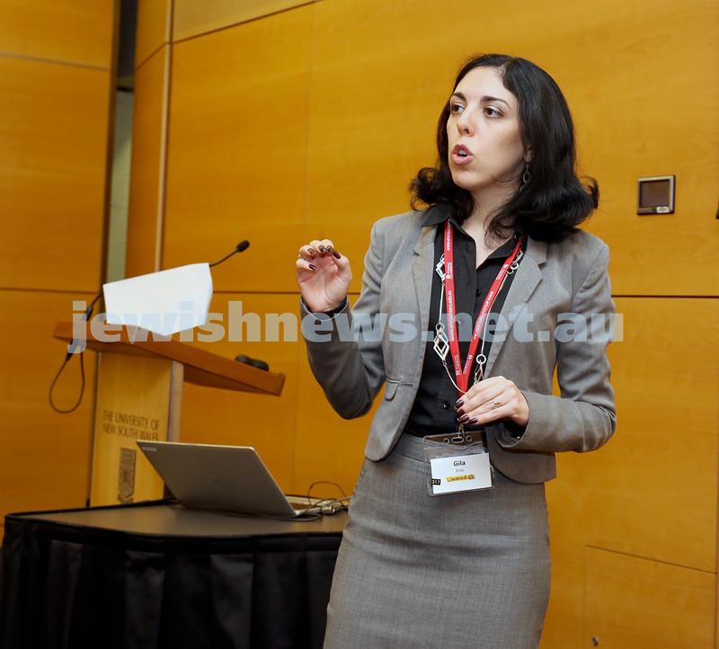 Limmud Oz. Gila Fine presenting a lecture.