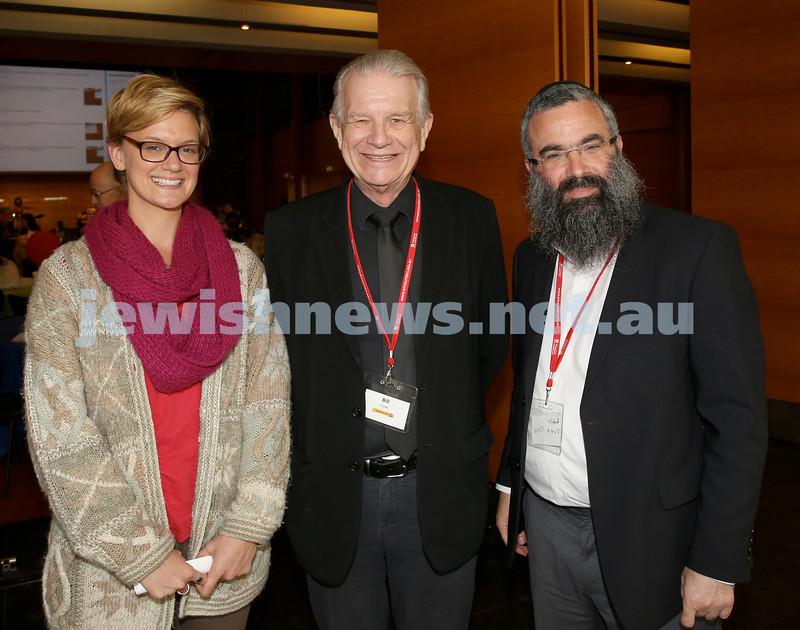Limmud Oz. Presenters Angela Zinn, Rev.Bill Crews, Rabbi Dovid Slavin.