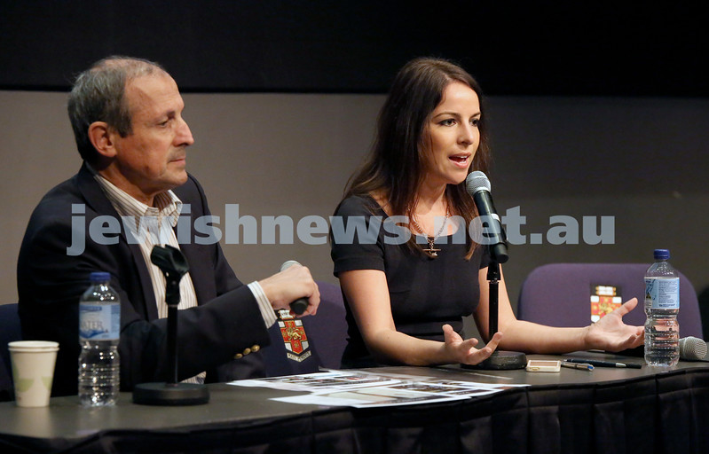 Limmud Oz. Panel discussion. Vic Alhadeff & Sharri Markson.