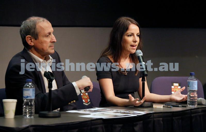 Limmud Oz. Panel discussion. Vic Alhadeff & Sharri Markson.