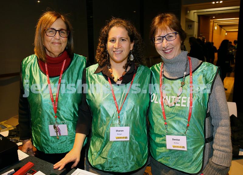 Limmud Oz. Volunteers, Dina Kaufman, Sharon Berger, Denise Archie.