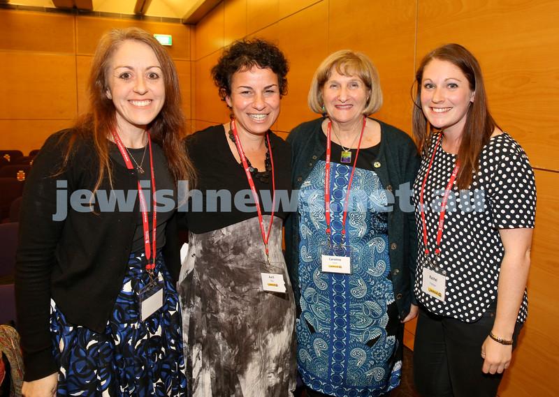 "Limmud Oz. Panel discussion ""Where are all the Jewish Women ?Breaking through the communal glass Ceiling."" Jacqueline Ninio, Avril Alba, Caroline Haski, Rachel Flitman."