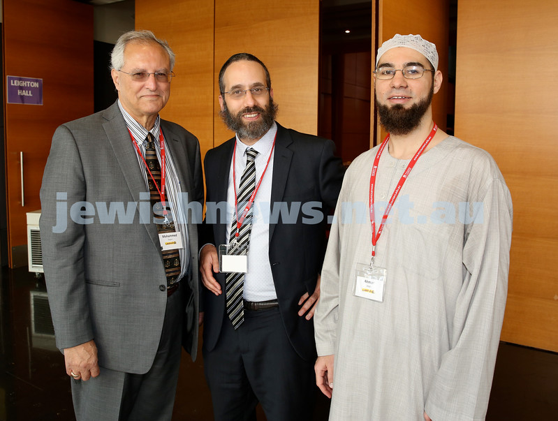 Limmud Oz. Mohammed Dajani, Rabbi Zalman Kastel, Sheikh Ahmed Abdo.