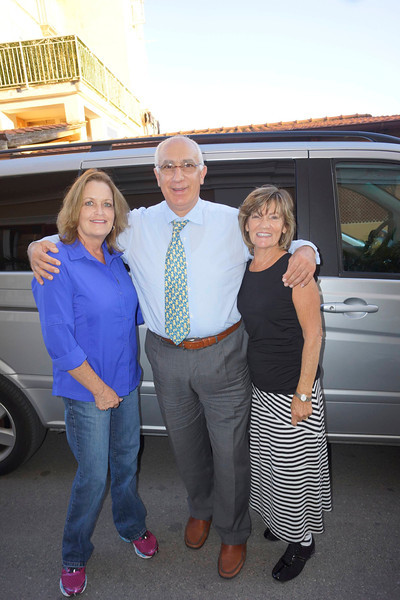 Vicki and Ann with Tony, our driver from Aldos