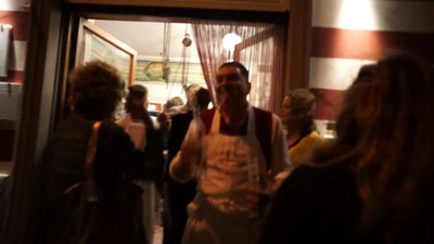 Dario Cecchini providing Grapa after dinner!