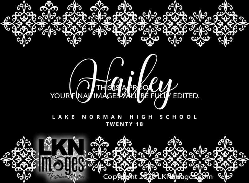 Hailey - Card design White on Black