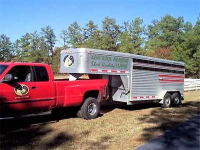 Same trailer but now 2000 1 ton Dodge dually.