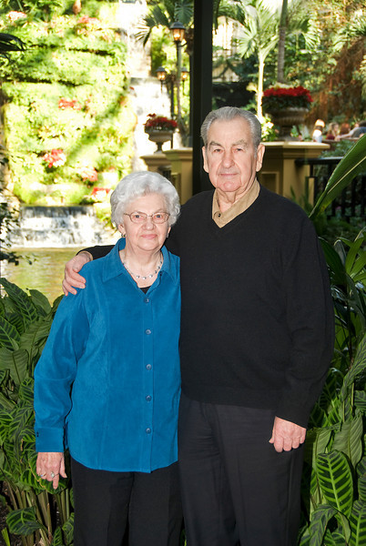 Christmas 2008 weekend - Mom & Dad at Opryland Hotel celebrating 55th Wedding Anniversary