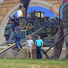 Brother, Cousin at Caper Girardeau Mississippi river wall - 2007