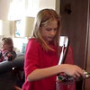 Niece passing out presents in 2001