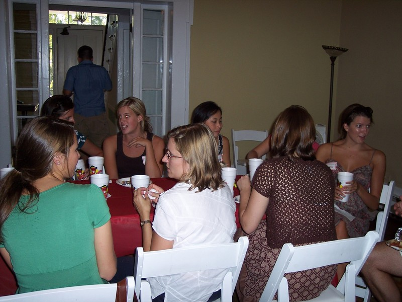 ladies table at the slam