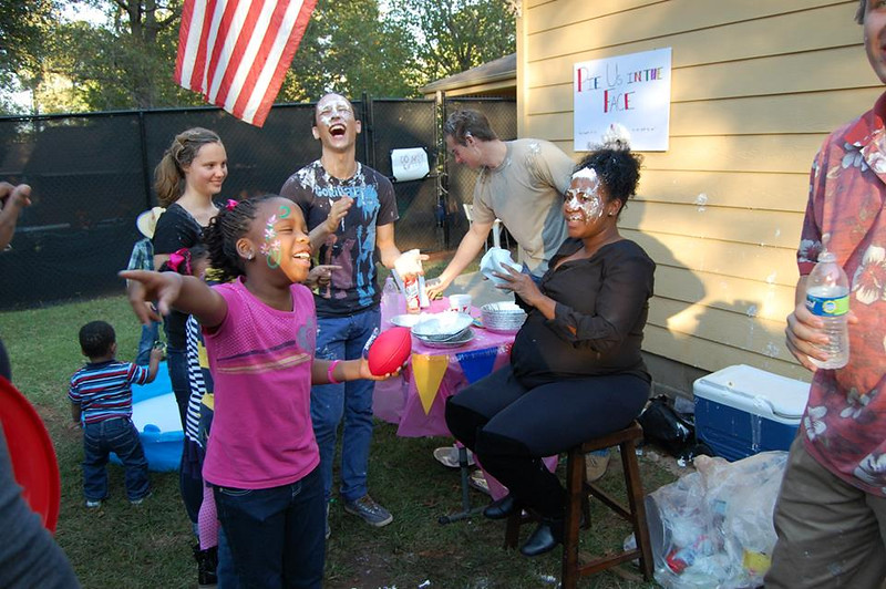 Pie us in the face