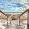 Dune road beaches