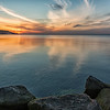 Sunset over the Sound at Sunken Meadow State Park during the Spring