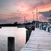 Late summer sunset over the East Marina at Timber Point CC