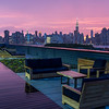 NYC sunset off a Brooklyn rooftop spring '15
