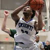 Oakmont Regional High School boys basketball played Lunenburg Middle High School on Friday night, Feb. 14, 2020 in Lunenburg. LMHS's #23 Chadwick Quair. SENTINEL & ENTERPRISE/JOHN LOVE