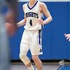 Oakmont Regional High School boys basketball played Lunenburg Middle High School on Friday night, Feb. 14, 2020 in Lunenburg. LMHS's #4 William Peplowski. SENTINEL & ENTERPRISE/JOHN LOVE