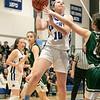 Oakmont Regional High School girls basketball played Lunenburg Middle High School on Friday night, Feb. 14, 2020 in Lunenburg. LMHS's #10 Kenzie Mannone. SENTINEL & ENTERPRISE/JOHN LOVE