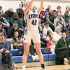 Oakmont Regional High School girls basketball played Lunenburg Middle High School on Friday night, Feb. 14, 2020 in Lunenburg. LMHS's #42 Grace Hedlund. SENTINEL & ENTERPRISE/JOHN LOVE