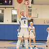 Oakmont Regional High School girls basketball played Lunenburg Middle High School on Friday night, Feb. 14, 2020 in Lunenburg. Free throw by LMHS's #2 Emily Dumford. SENTINEL & ENTERPRISE/JOHN LOVE