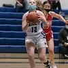 Lunenburg Middle High School girls basketball played Tyngsboro High School on Thursday night at home. Driving to the basket is LMHS's Lauren Blomgren. SENTINEL & ENTERPRISE/JOHN LOVE