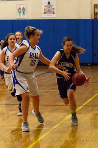 Lebanon Middle School Girls Basketball at Willington