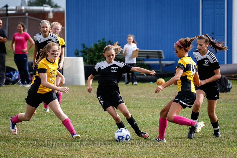 Lebanon Middle School Girls soccer vs Porter (Columbia)