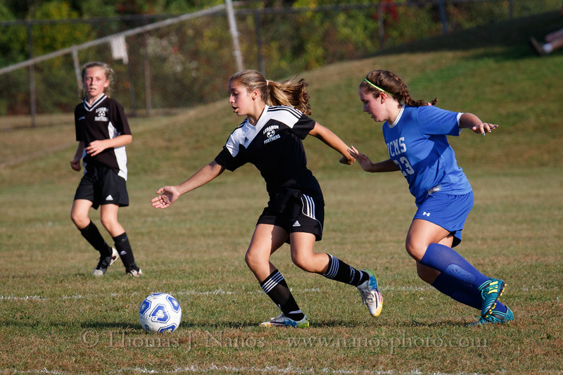 Lebanon Middle School Girls Soccer vs Vernon