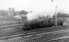 45196 detaching a parcels van at Skipton 28th September 1963
