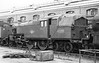 42500 (Stanier 2-6-4T) awaiting restoration outside Derby works august 8th 1963