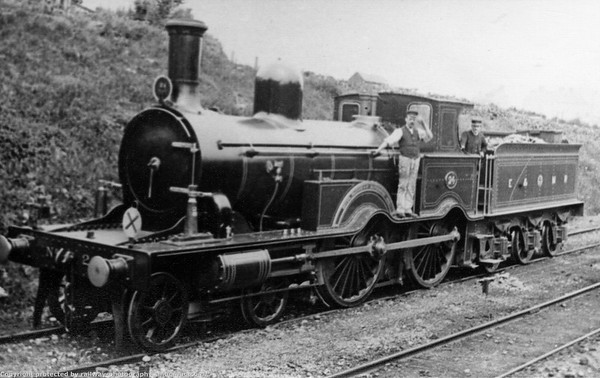 24 was built by Beyer Peacock & Co  to an order for the Lynn  & Fakenham Rly shortly before it was incorporated into the Eastern & Midlands (later M&GN)