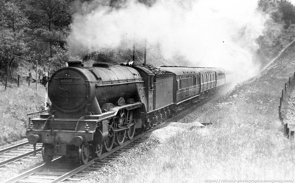 60047 Donovan Between Welwyn North & South tunnels c1958 or 1959