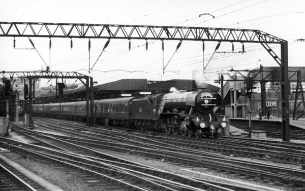 60051 Blink Bonny leaving Crewe with the return 'South Yorkershireman' to Huddersfield 18th April 1964