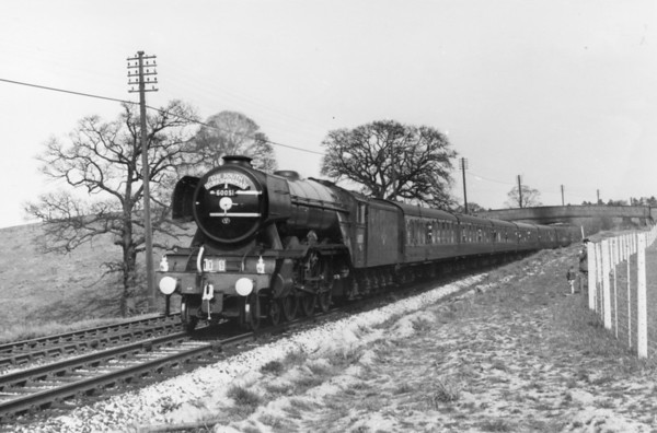 60051 Blink Bonny near Alsager with 'The South Yorkshireman' 18th April 1964