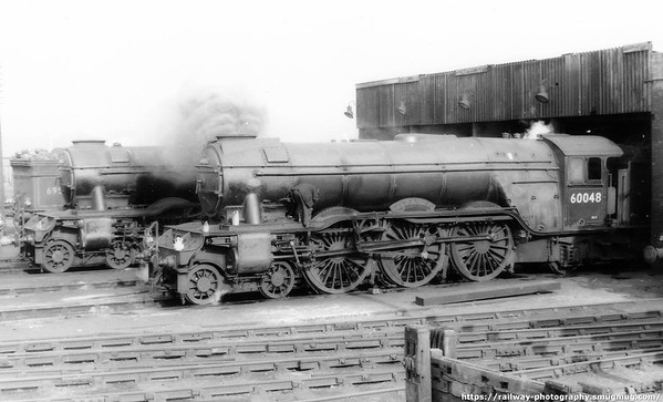 60048 Doncaster at Grantham shed March 1961