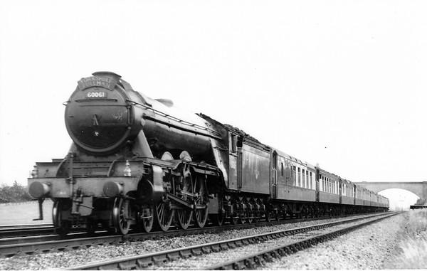 60061 Pretty Polly up 'Yorkshire Pullman' Knebworth June 1960