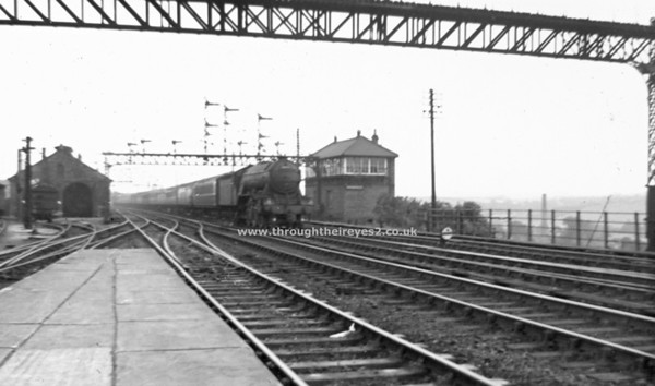 60056 Centenary entering Durham station sept 1956