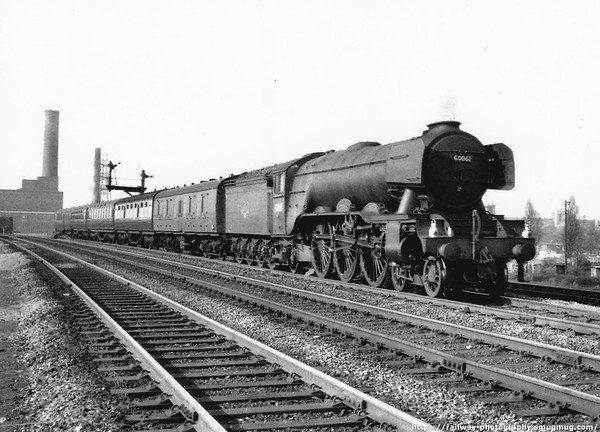 60061 Pretty Polly Peterborough south station 22nd April 1962