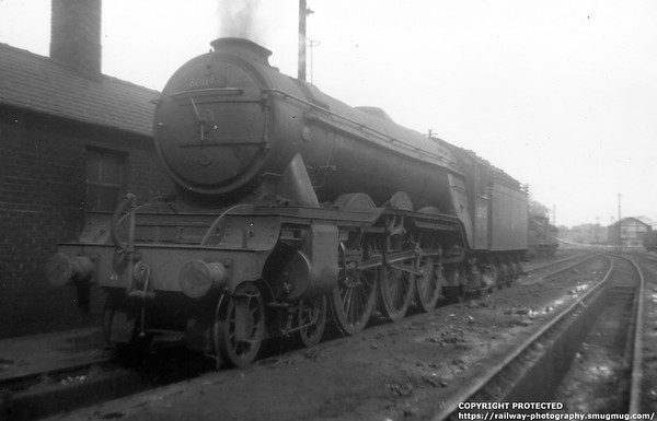 60093 Coronach Carlisle Canal shed 22nd May 1959 Gresley A3